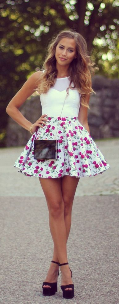 Fashion, glam, style, miniskirt, woman